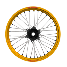 Radsatz Yamaha ► Excel Felge Gold | Kite Nabe Schwarz | Speichen Silber | Nippel Blau