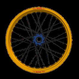 Radsatz Yamaha ► Excel Felge Gold | Nabe Blau | Speichen Schwarz | Nippel Blau