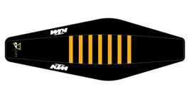 Factory Sitzbankbezug KTM Black Top - Black Sides - Orange Ribs