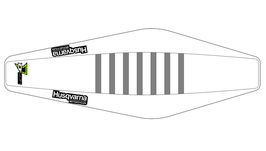 Factory Sitzbankbezug Husqvarna White Top - White Sides - Grey Ribs