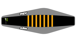 Factory Sitzbankbezug KTM Black Top - Grey Sides - Orange Ribs