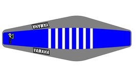 Factory Sitzbankbezug Yamaha Blue Top - Grey Sides - White Ribs