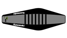 Factory Sitzbankbezug Kawasaki Grey Top - Black Sides - Black Ribs
