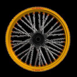 Radsatz KTM ► Excel Felge Gold | Kite Nabe Schwarz | Speichen Silber | Nippel Orange