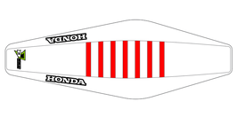 Factory Sitzbankbezug Honda White Top - White Sides - Red Ribs