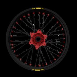 Radsatz Honda ► Excel Felge Schwarz   Kite Nabe Rot   Speichen Schwarz   Nippel Rot