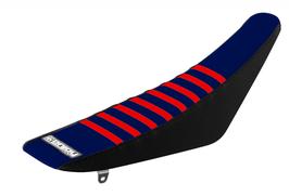 Sitzbankbezug Husqvarna Blue Top - Black Sides - Red Ribs