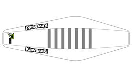 Factory Sitzbankbezug Kawasaki White Top - White Sides - Grey Ribs