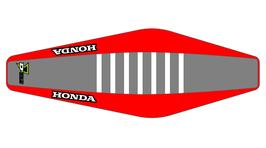 Factory Sitzbankbezug Honda Grey Top - Red Sides - White Ribs