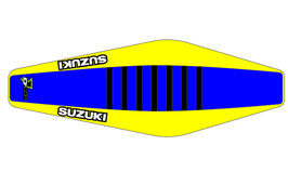 Factory Sitzbankbezug Suzuki Blue Top - Yellow Sides - Black Ribs