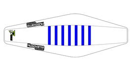 Factory Sitzbankbezug Husqvarna White Top - White Sides - Blue Ribs