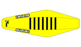Factory Sitzbankbezug Suzuki Yellow Top - Yellow Sides - Black Ribs