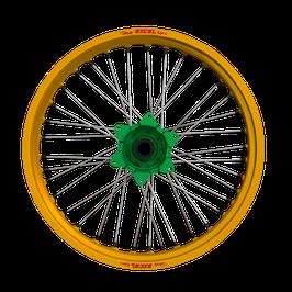 Radsatz Kawasaki ► Excel Felge Gold | Kite Nabe Grün | Speichen Silber | Nippel Grün