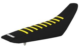 Sitzbankbezug Suzuki Black Top - Black Sides - Yellow Ribs
