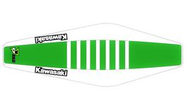 Factory Sitzbankbezug Kawasaki Green Top - White Sides - White Ribs