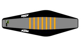 Factory Sitzbankbezug KTM Grey Top - Black Sides - Orange Ribs