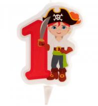 Piraten-Kerzen - Nr.1-Nr.6 - 7cm