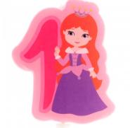 Prinzessinnen-Kerzen - Nr.1-Nr.6 - 7cm