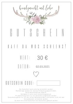 GUTSCHEIN für den Onlineshop zum selbst ausdrucken