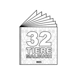 32 TIERE - Malbuch
