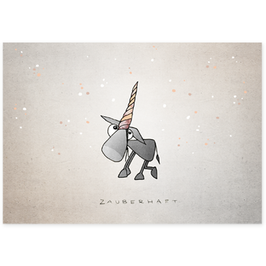 Postkarte Zaubereinhorn