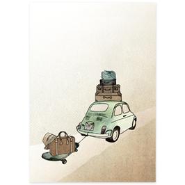 Postkarte Tschüss