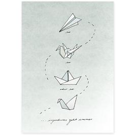Postkarte Origami
