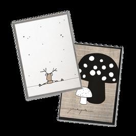 Minikartenset Glücklich