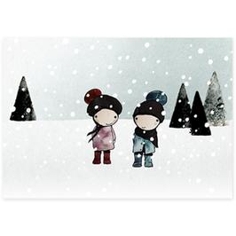 Postkarte Schneewanderung