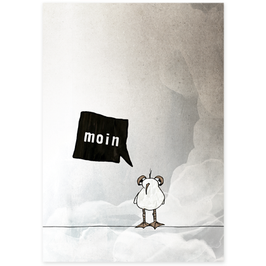 Postkarte Möwe Ping