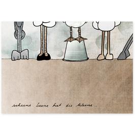 Postkarte Scheene Beene