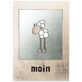 Postkarte Moinsieur Mo