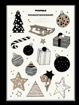 Bastelbogen Weihnachtskrimskrams