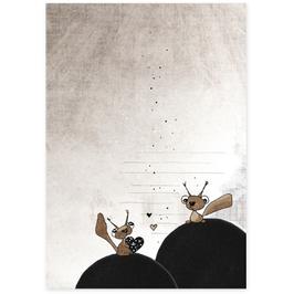 Postkarte Herzhörnchen