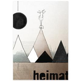 Postkarte Daheim