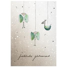 Postkarte Glitzerengel