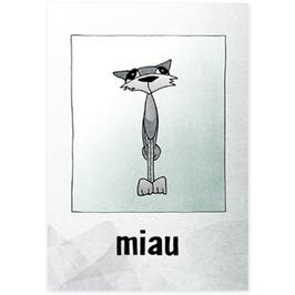 Postkarte Miau