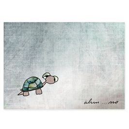 Postkarte Schildkröte