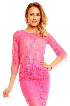 Spitzentop pink Azteken Look