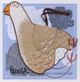 Pop-Up 3D Hanging Goose Bird Card