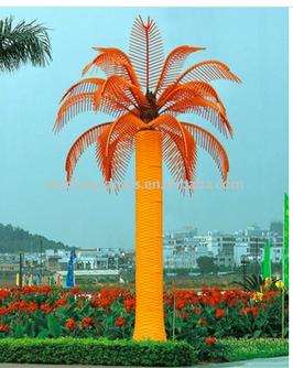 Светодиодная пальма (толстый ствол)