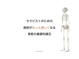 【2021年11月18日】セラピストの骨筋学②(骨筋学①の受講が必須です)