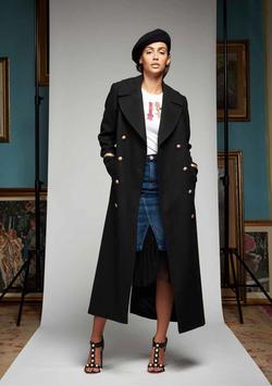 Cappotto col nero donna Denny Rose art 721DD30005 Autunno Inverno 2017 2018