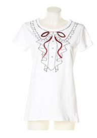 T-shirt maglia donna colore bianco Denny Rose art 63dr16008 Primavera 2016