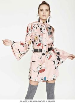 Completo Dress Abito + sottoveste donna Denny Rose art 811DD10009 Primavera 2018