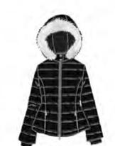Piumino donna Denny Rose art 821ED35018 Autunno 2018/19 variante colore nero