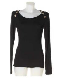 T-shirt maglia nero donna Denny Rose art 63dr16023 Primavera 2016