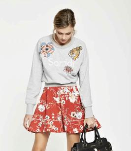 T-shirt colore grigio Maglia limited edition donna Denny Rose art 811DD60002 Primavera 2018