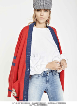 Jeans pantalone denim var 01 donna -Iris- Denny Rose art 811SJ26001 Primavera 2018