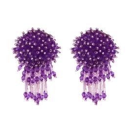 """Ohrstecker """"Medusa"""" - Glitzernde Kristalle in Violett"""
